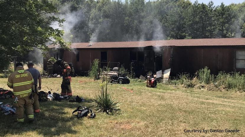 Mobile Home Fire in North Carolina