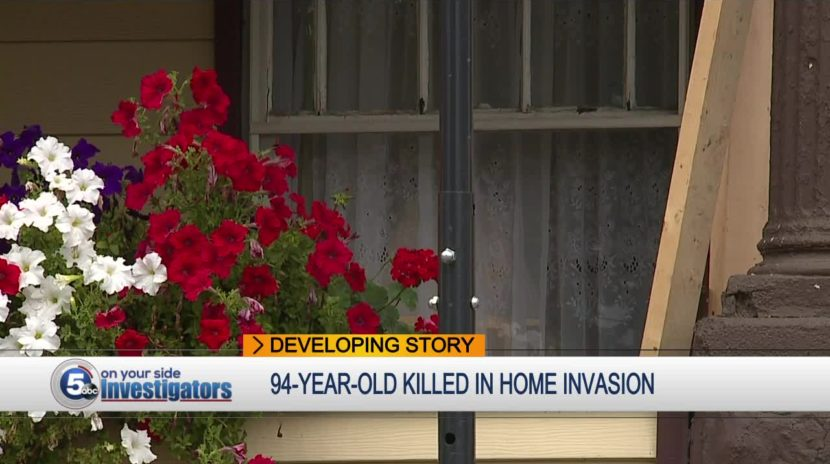 94 Year Old Woman Beaten to Death in a Home Intrusion