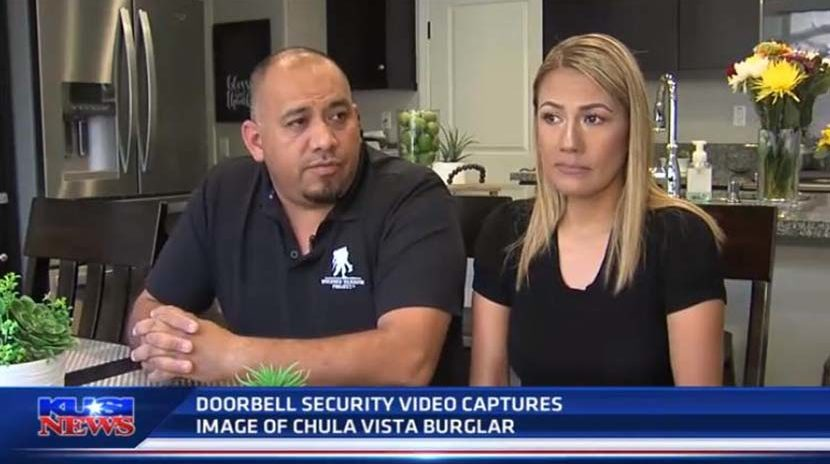 Doorbell Camera shows Burglar Leaves with Stolen Items
