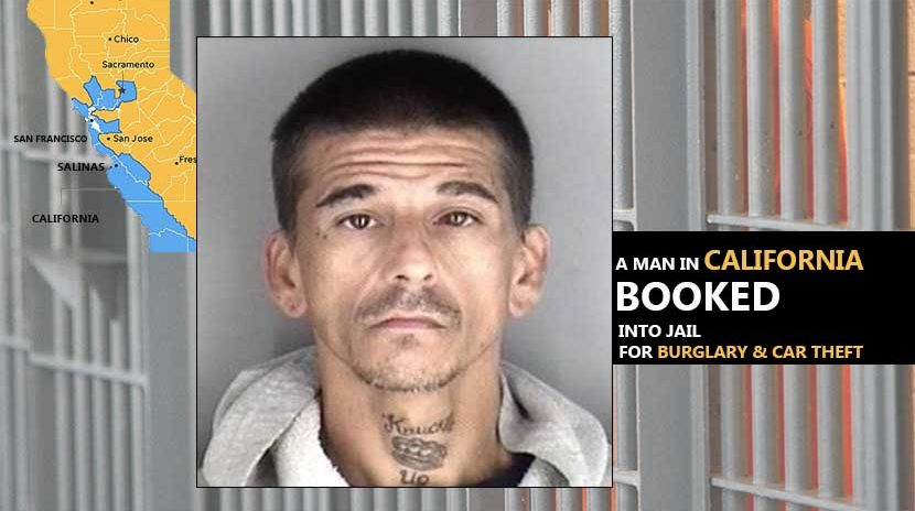 Man Booked into Jail for Burglary and Car Theft