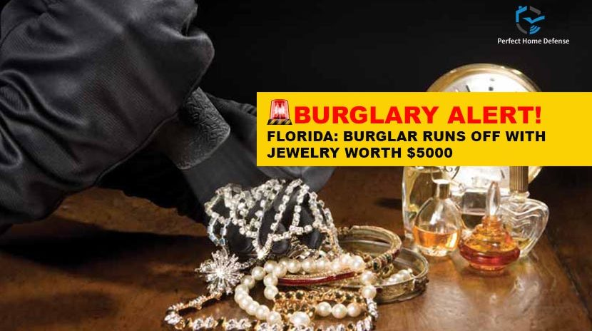 Burglar Runs Off with Jewelry worth $5000 Florida