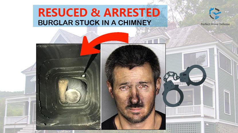 Chimney-stuck burglar arrested by Police