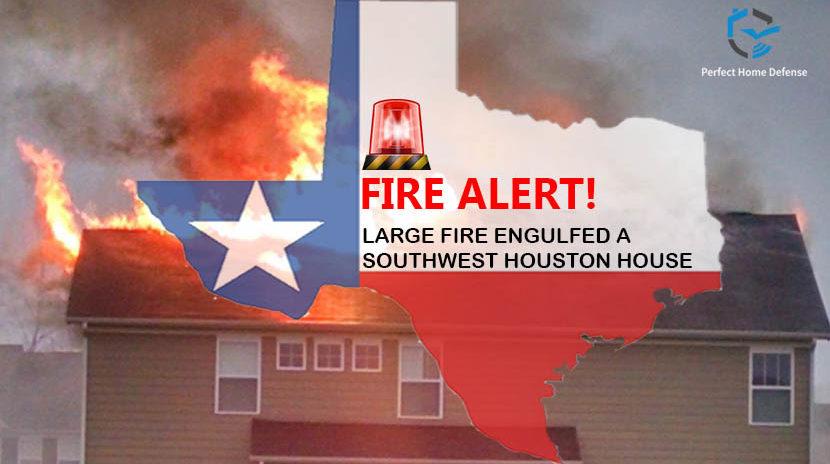 Fire Engulfs Houston Home