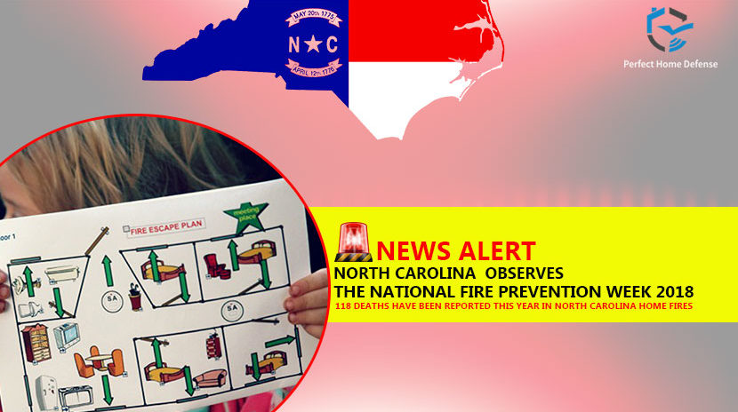 NC Observes the National Fire Prevention Week 2018
