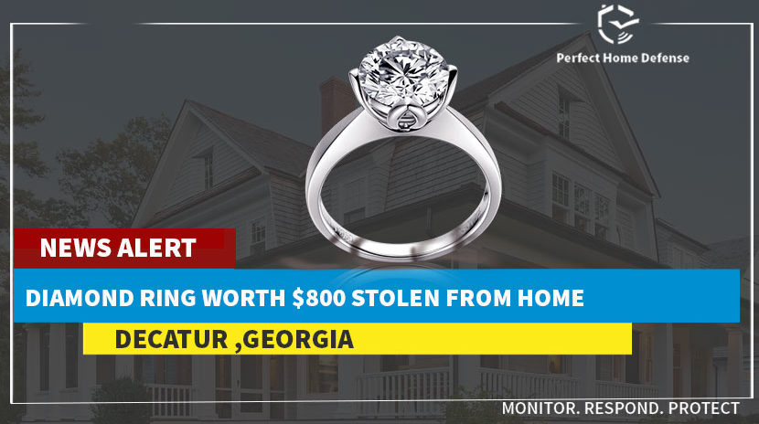 Decatur Woman Informs Police A Diamond Ring Was Stolen From Her Home