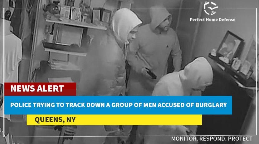 Burglars Seen On a Surveillance Video Sneaking Around Queens Home