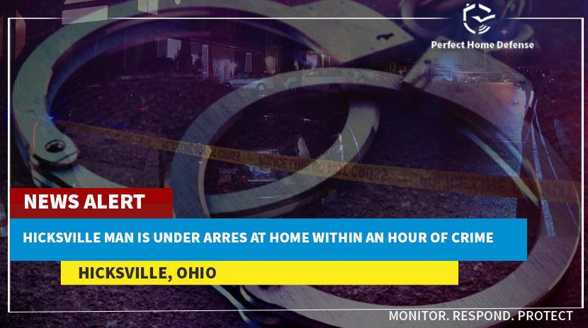 Burglary Suspect Arrested At Hicksville-Ohio