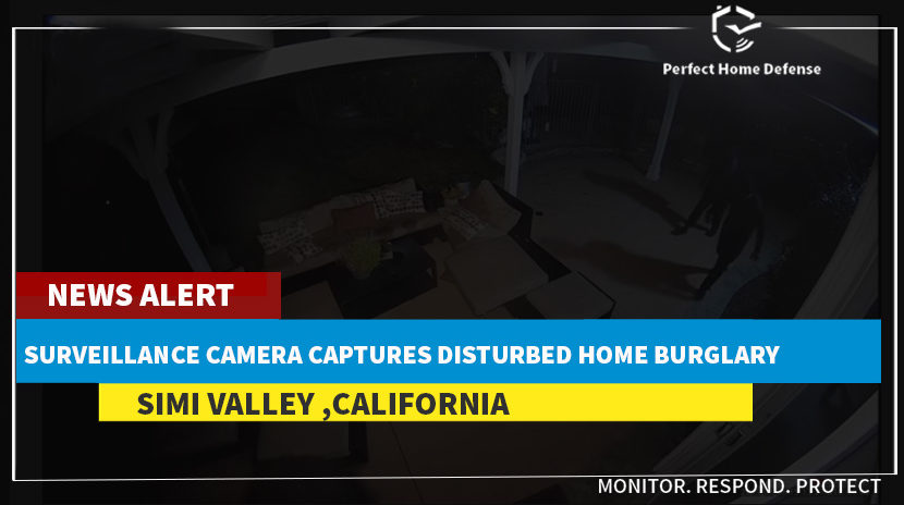 Simi Valley Surveillance Camera Captures Disturbed Home Burglary